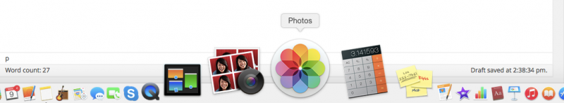 Look for this icon on your dock