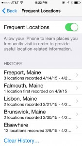 Tracking on my iPhone